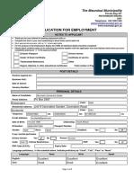 Msunduzi Application Form.