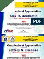 CERTIFICATE of Appreciation Judges