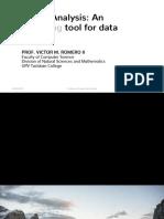 Image Analysis as an Emerging Tool for Data Analysis
