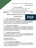Uganda the Landlord and Tenant Bill, 2018