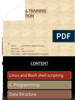 Industrial Training  ppt c bash shell data structur uing linux