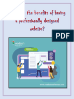 What are the benefits of having a professionally designed website?