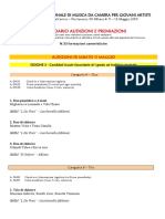 Calendario Audizioni e Premiazioni Concorso 2019-1