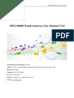 MTG1000B Trunk Gateway User Manual