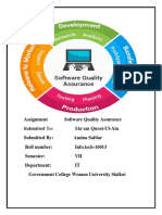 Assignment Software Quality Assurance
