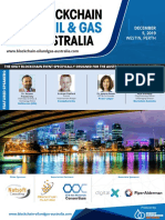 2019 Blockchain in Oil & Gas Australia Brochure