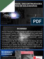 Normas, Discontinuidades y Defectos en Soldaduras