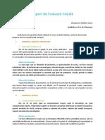 Model Raport de Evaluare Initiala