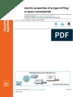 Thermoelectric Properties of P-type SrTiO3