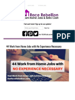 44 Work From Home Jobs With No Experience Necessary - Real Work From Home Jobs by Rat Race Rebellion