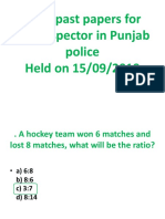 PPSC Past Papers for Sub Inspector in Punjab