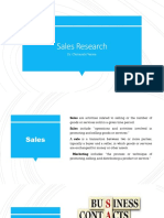 Sales Research