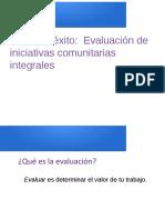 Evaluar iniciativas comunitarias