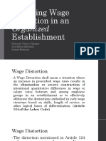 Resolving Wage Distortion in an Organized Establishment