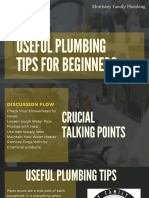 Useful Plumbing Tips for Beginners