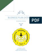 Contoh business plan rumahan