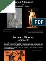 Atenea y Hermes