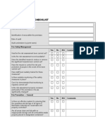 Fire Safety Audit Checklist