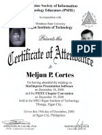 MELJUN CORTES 2000 Certificate StarImpress Presentation Software