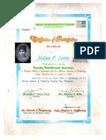 MELJUN CORTES 2002 Certificate ZSMIT Faculty Enrichment Seminar