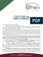 [Français] Lettre de l'Avent 2019 à la Famille Vincentienne