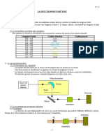 B- La Spectrophotometrie