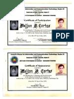 MELJUN CORTES 2003 Certificate CHED Region 9 Council of Dean ADZU SCC Zamboanga City