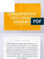 Characteristics of 21st Century Assessment