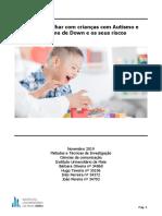 Como trabalhar com crianças com Autismo e Síndrome de Down e os seus riscos