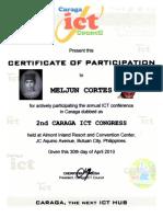 MELJUN CORTES 2010 Ict Council Caraga 2nd Caraga Ict Congress