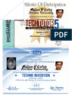 MELJUN CORTES 2013 TECH Tutor 5 Certificate Gamification of Education
