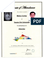 MELJUN CORTES 2018 Edu Tech Certificate of Attendee