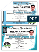MELJUN CORTES 2018 EGLOBIO Innovation Congress Augmented Joomla Certificate