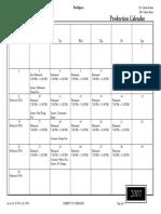 Master Production Calendar