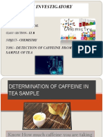 caffiene extraction from tea