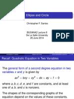 BUSANA2 Mtg#9 - Ellipse and Circle