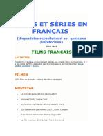 FILMS ET SÉRIES EN FRANÇAISONLINE
