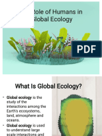The Roles of Human in Global Ecology1