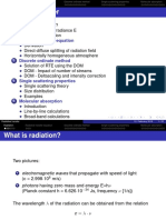 Lecture On Radiative Transfer