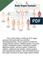 HUMAN BODY ENGLISH