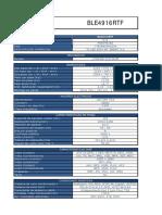 Especificaciones Ble4916rtf 3 Bpm