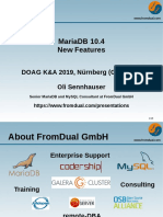 MariaDB 10.4 New Features at DOAG K+A 2019