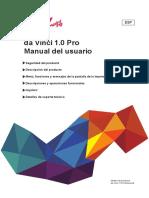 da Vinci 1.0 Pro Manual del usuario XYZ
