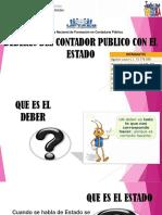 Deberes Del Contador Publico Con El Estado