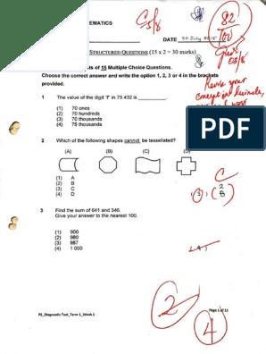 P5 Term 1 Math Practice Paper Ms Grace Pdf