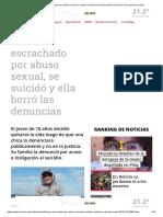 Pibe Fue Escrachado Por Abuso Sexual, Se Suicidó y Ella Borró Las Denuncias _ Crónica _ Firme Junto Al Pueblo