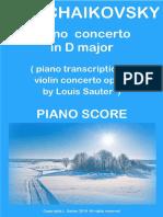 Tchaikovsky Sauter Concerto Op.35 Piano