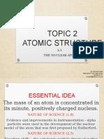 2.1 the Nuclear Atom