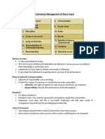 Administrative Management of Henri Fayol