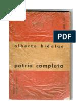 Patria Completa -Alberto Hidalgo - 1960